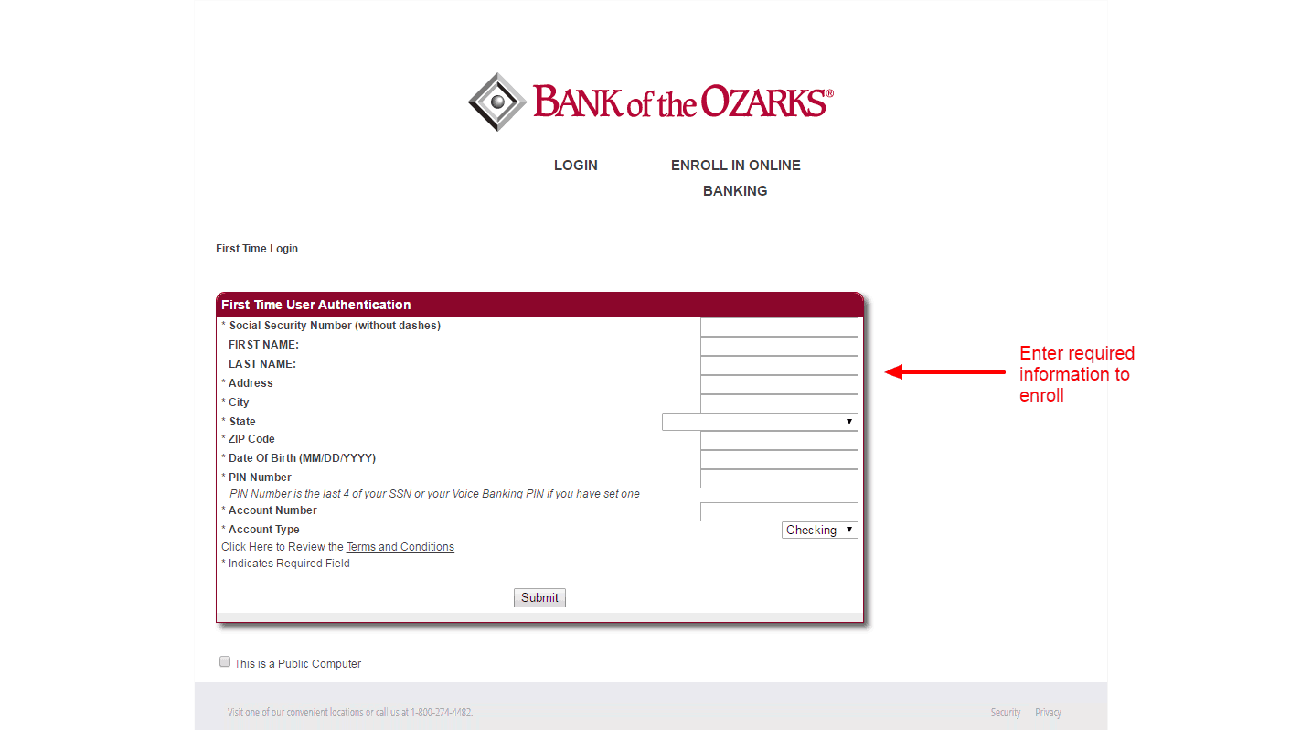 Bank of the Ozarks enroll 3