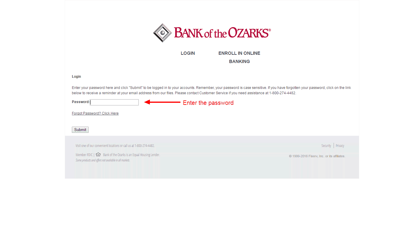 Bank of the Ozarks login 2