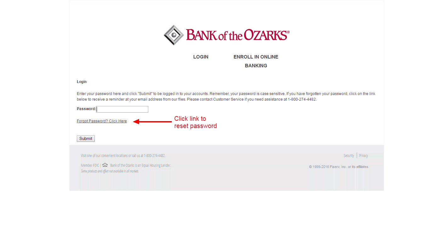 Bank of the Ozarks reset