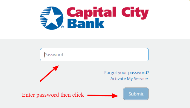 Capital City Bank Banking Password.