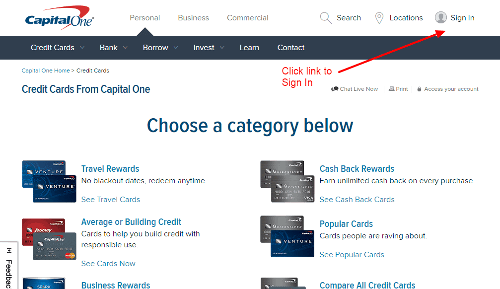 Capital one credit card online login cc bank capital one sign in colourmoves