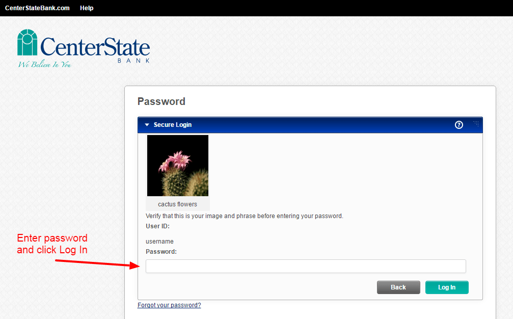 CenterState Bank login 2