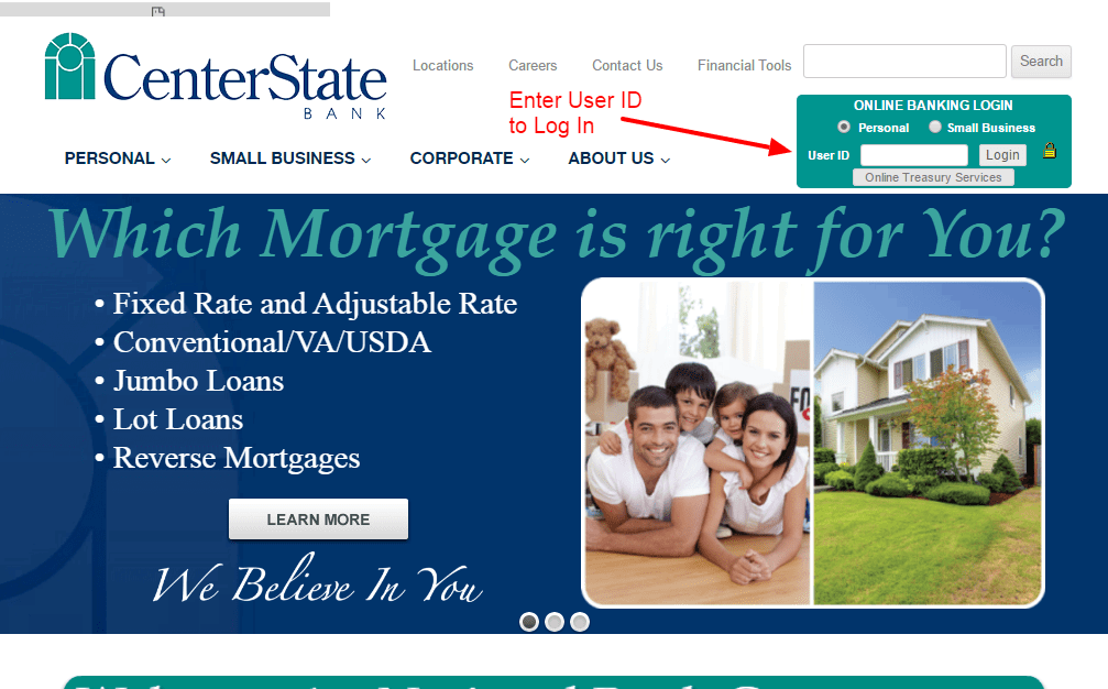 CenterState Bank login