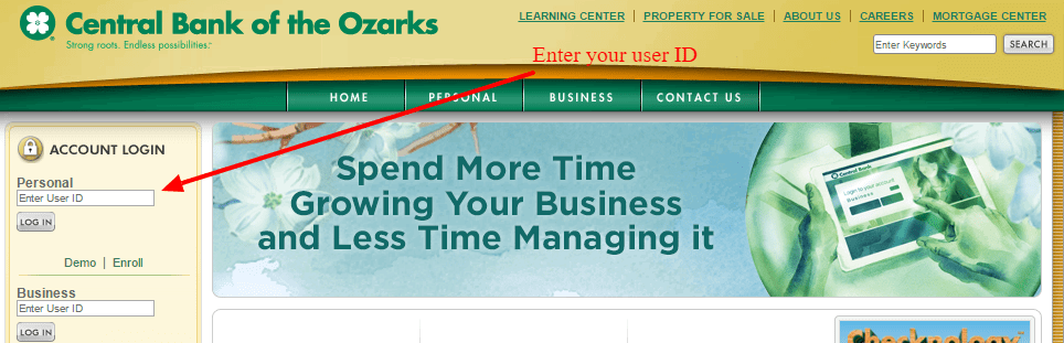 Central Bank of the Ozarks Login