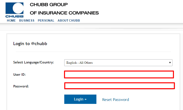 Chubb group login
