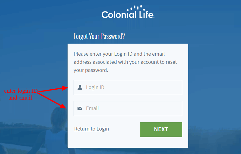 Colonial Life Forgot Password