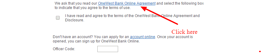 Onewest online banking agreement