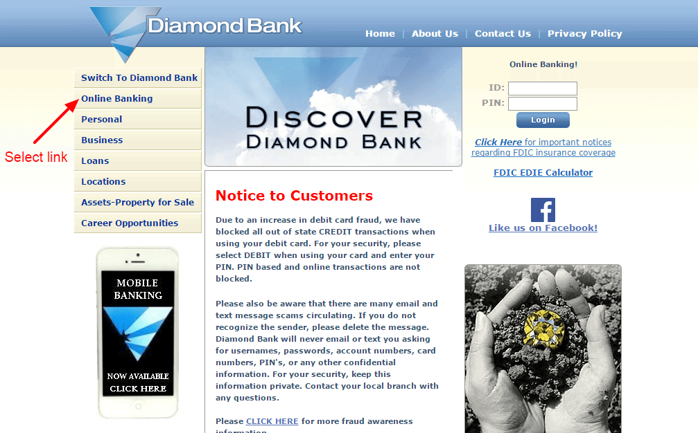 Diamond Bank enroll