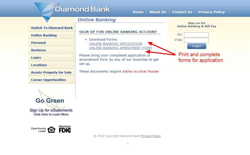 Diamond Bank enroll 2