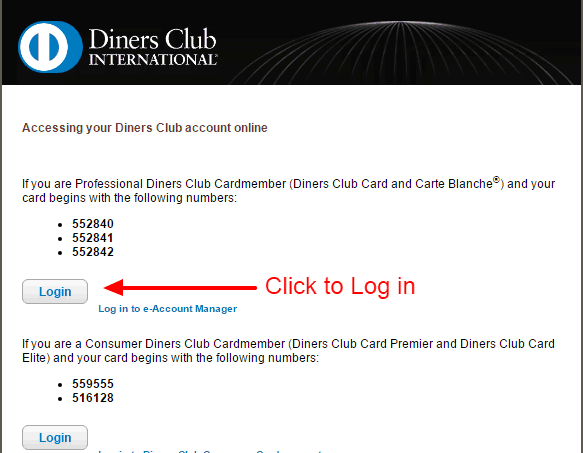 Diners Club LOGIN 2