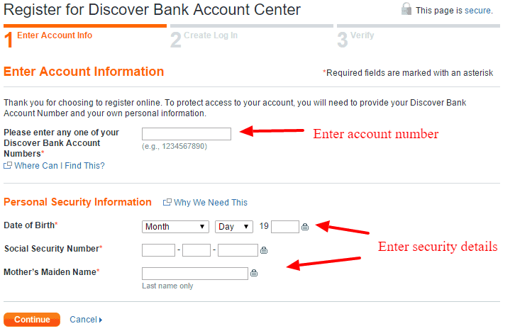 Discover Bank Online Banking Registration