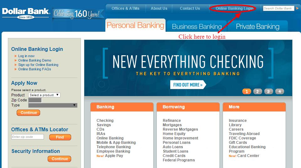 Dollar Bank Online Banking Login