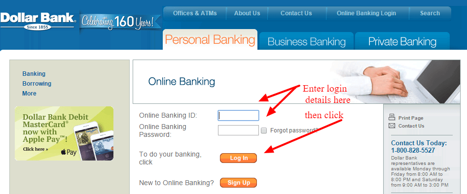 Dollar Bank Online Banking Log In