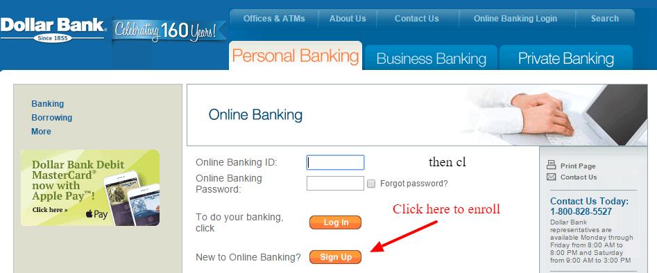 Dollar Bank Online Banking Signup