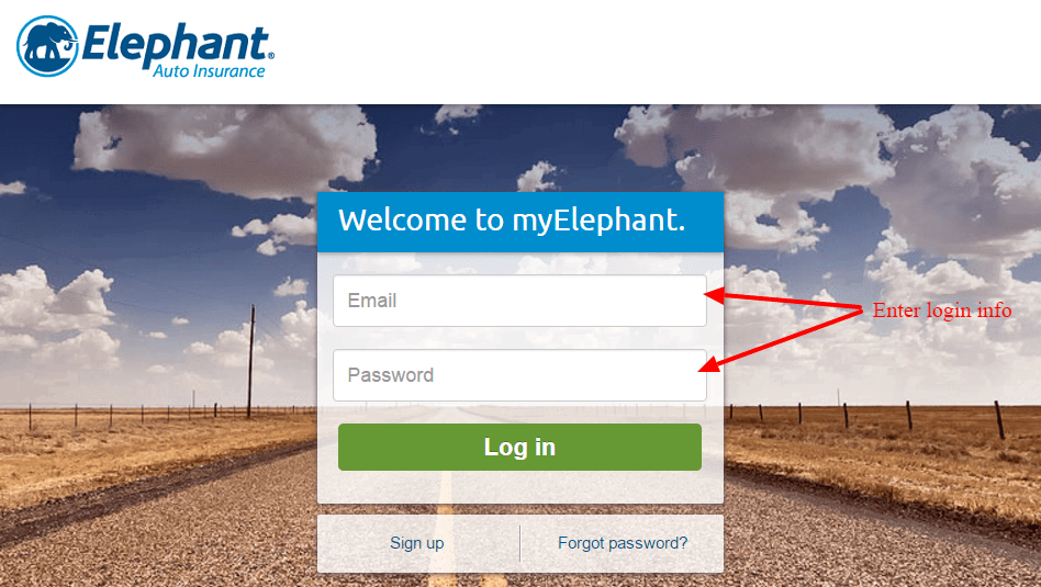 Elephant Auto Insuranece login