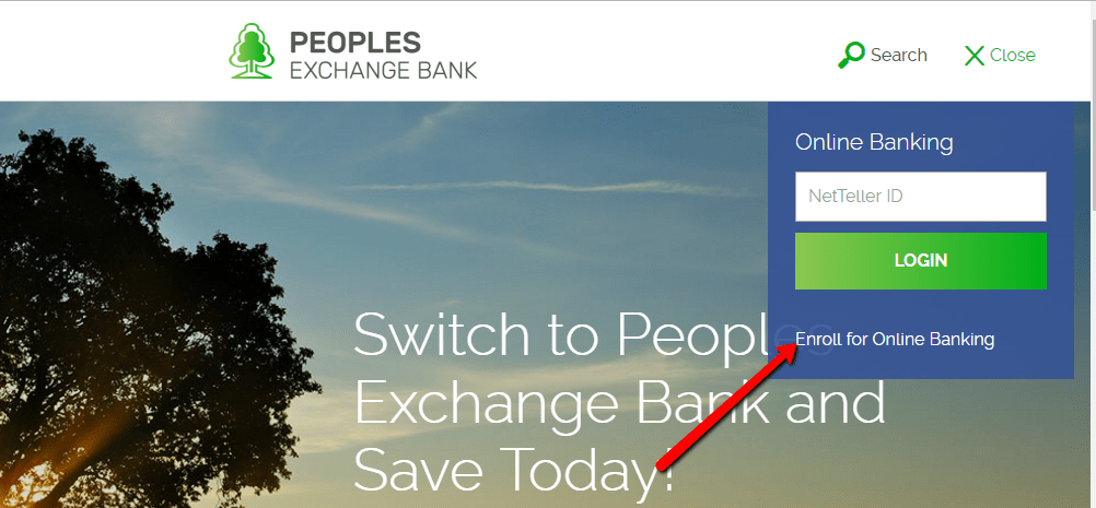 login banking enroll bank peoples exchange step requirements conditions terms bankinghelp