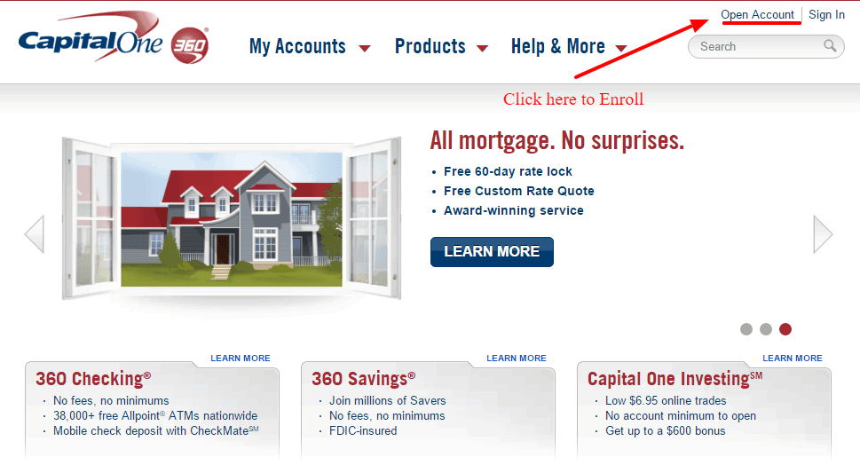Enroll Capital One 360 online
