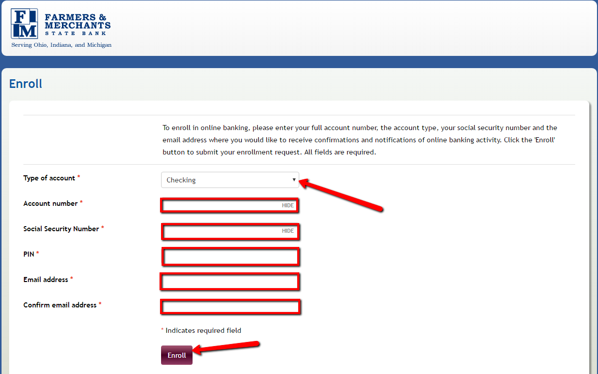 how to set online banking