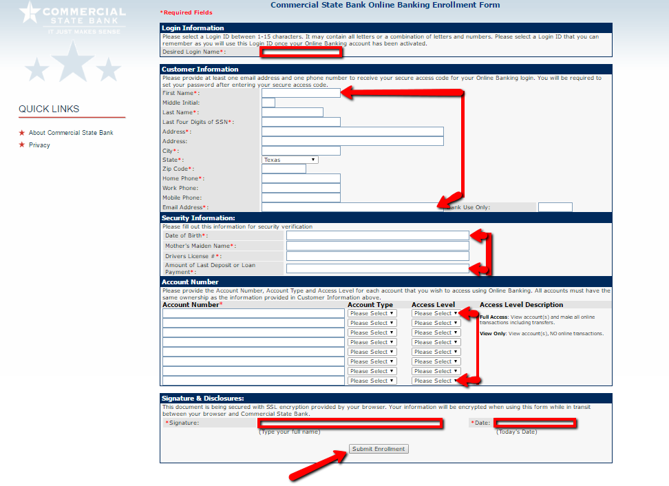 Commercial State Bank Online Banking Login Cc Bank