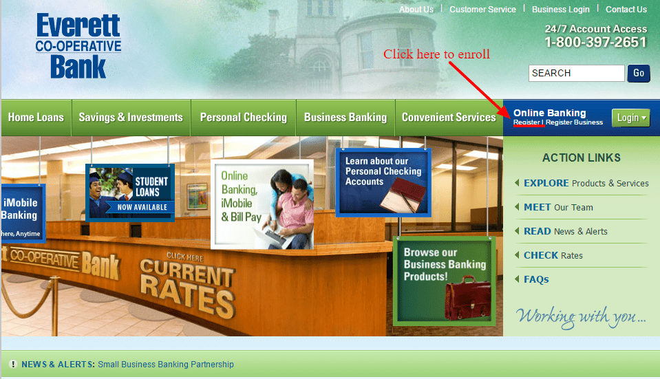 Everett Bank Enroll Online