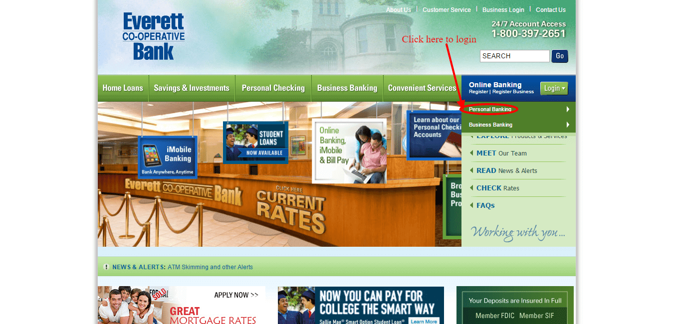Everett Cooperative Bank Login