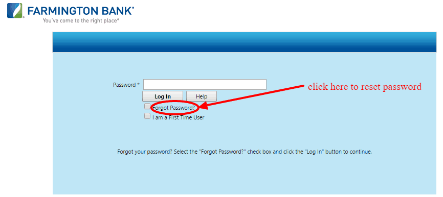 Farmington Bank Online Banking Forgot Password Link
