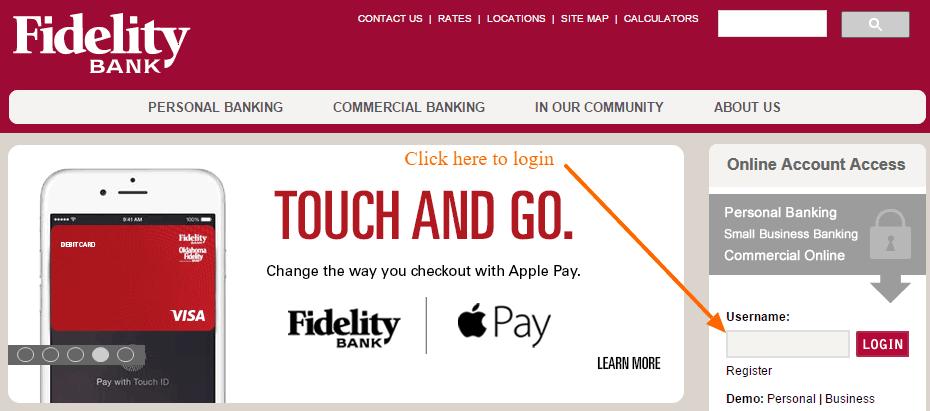 Fidelity Bank Login