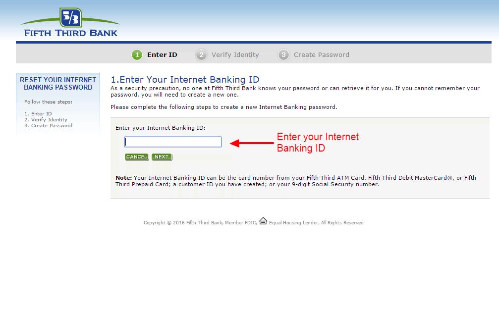Fifth Third Bank password 2