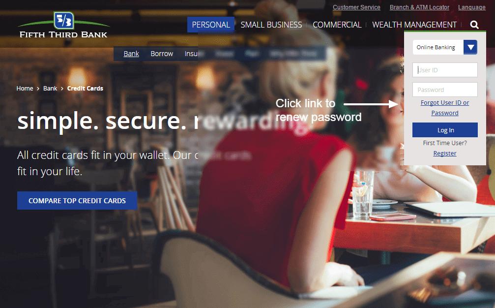 Fifth Third Bank password