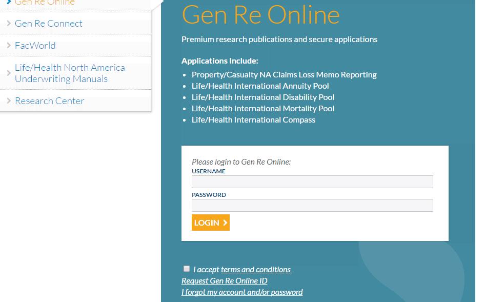 GenRe Client Login