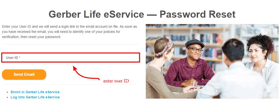 Gerber Password Reset