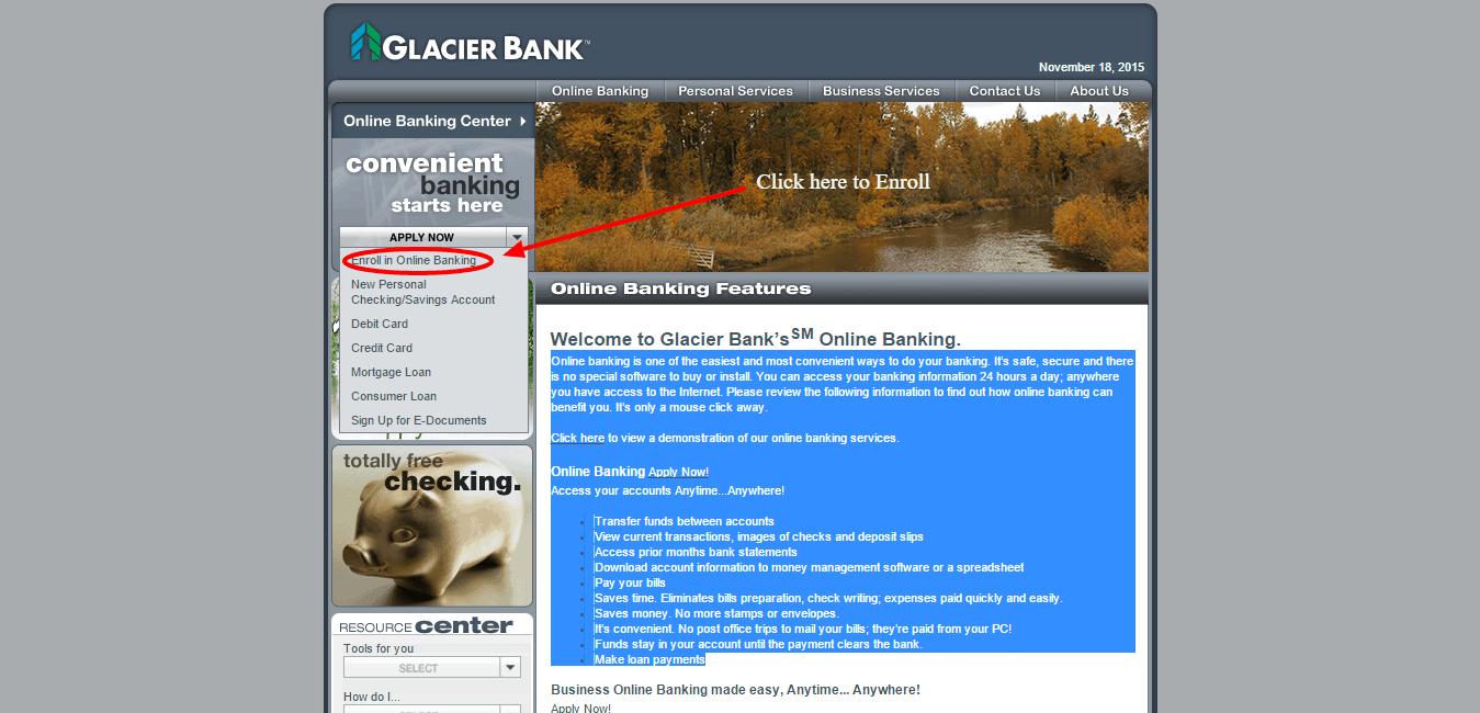 Glacier Bank Enroll Online Banking