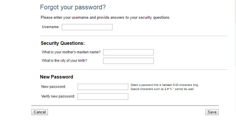 Hanover Insurance forgot password