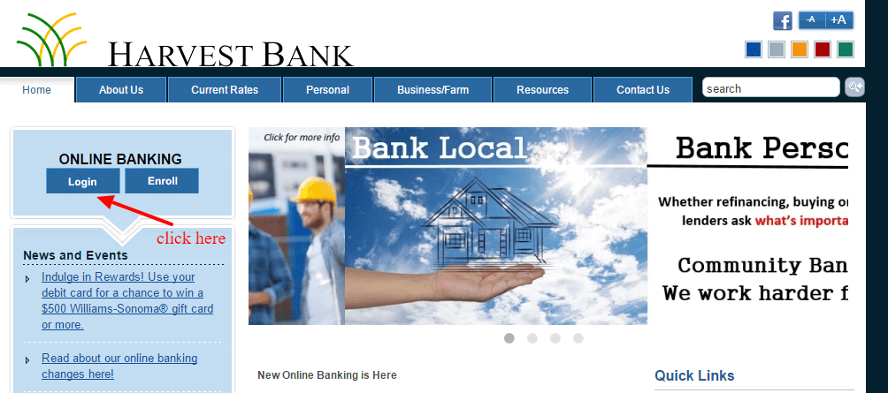 Harvest Bank Online Banking Login