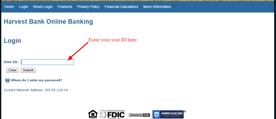 Harvest Bank Online Banking Login ID