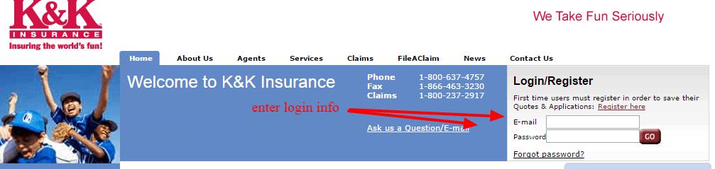 K K Insurance login