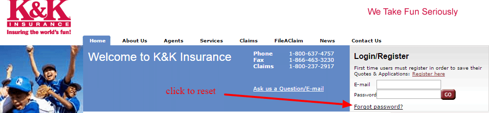 K K Insurance reset