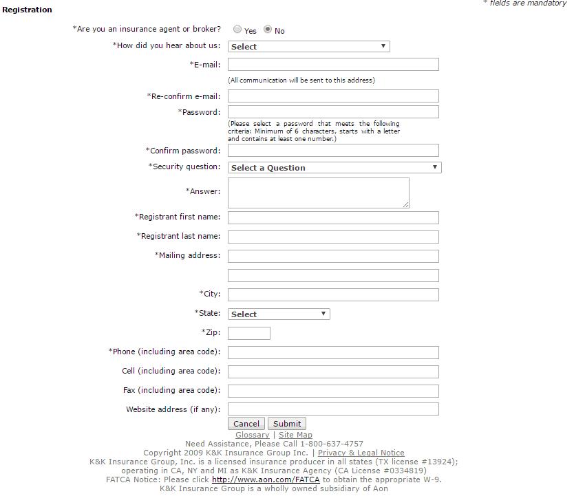 KK Insurance registration