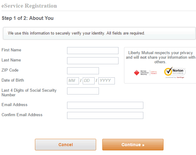 Liberty Mutual registration2