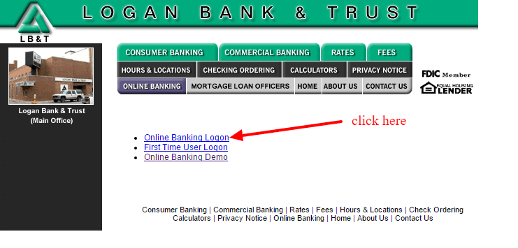 Logan Bank and Trust Company Logon