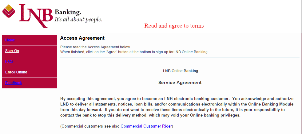 Lyons National Bank Online Banking Agreement
