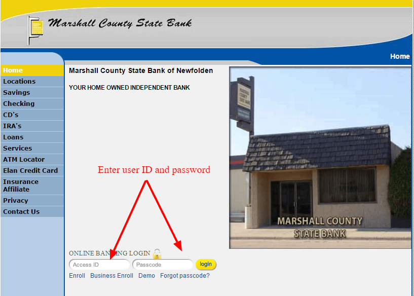 Marshall County State Bank Login