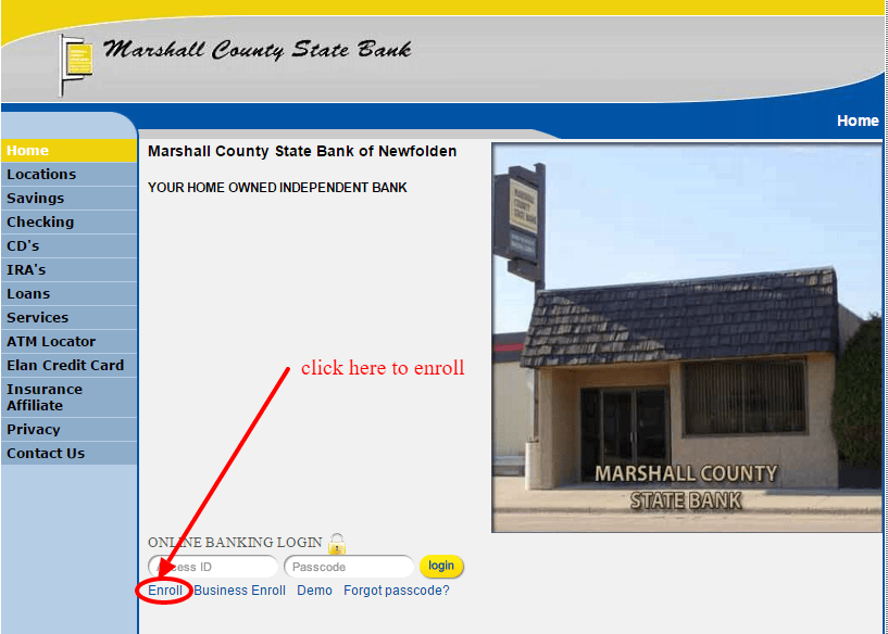 Marshall County State Bank Online Banking Enrollment