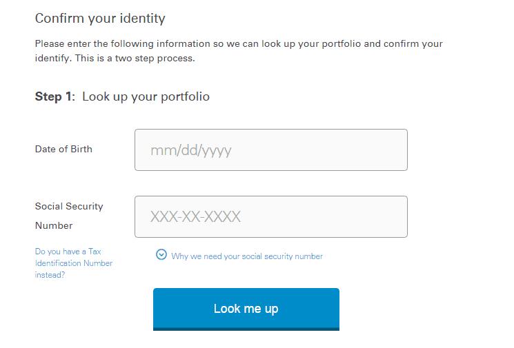 MassMutual confirm identity