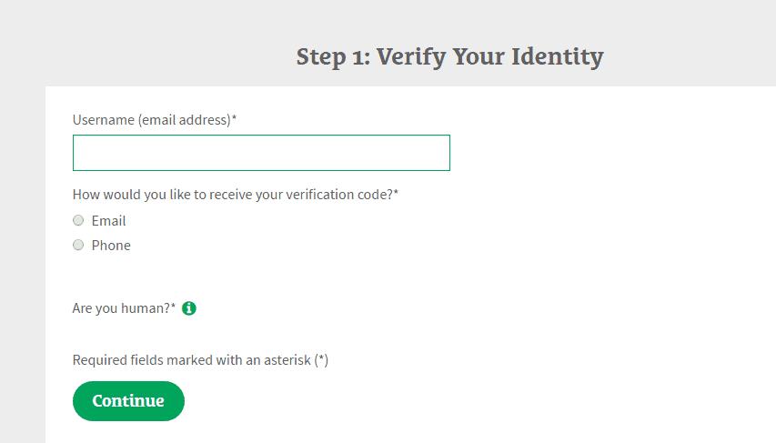 MyCOUNTRY forgot password