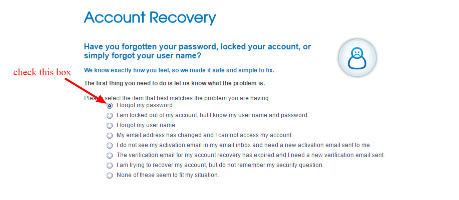 MySafeway account recovery