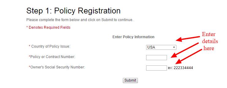 MyTransamerica Policy
