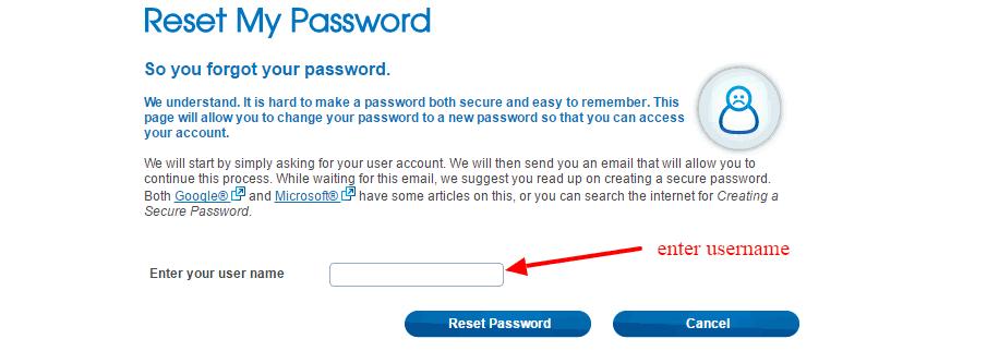 Mysafeway Password Reset