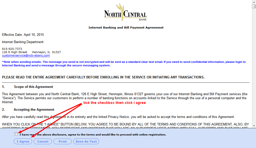 NCB Consumer Enrollment Agreement