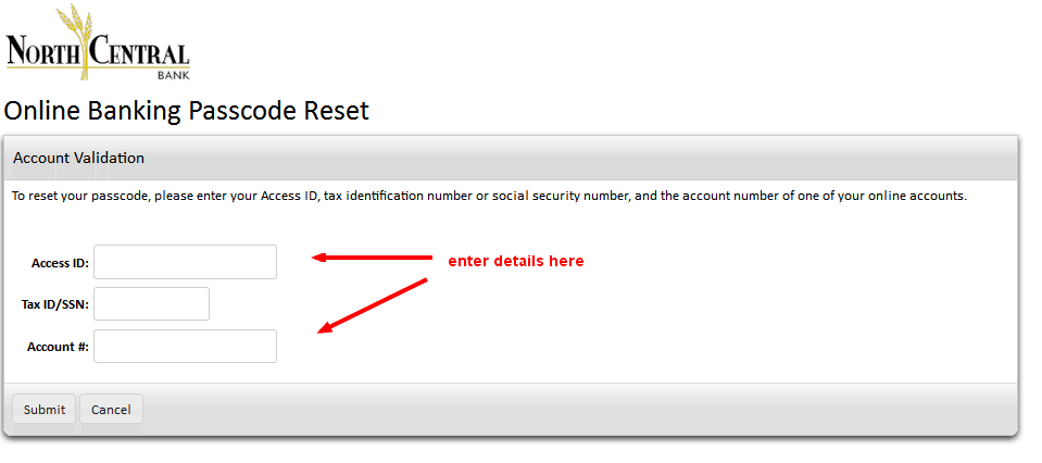 NCB Online Banking Passcode Reset